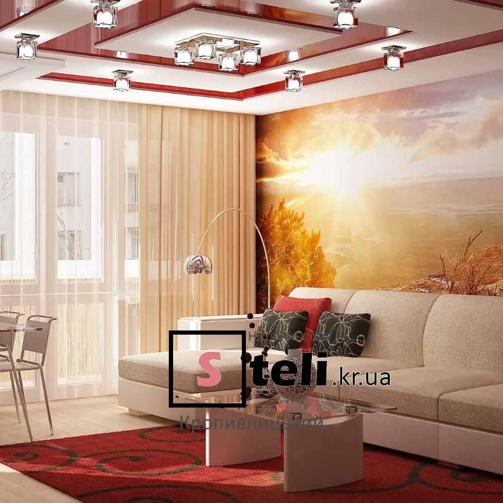 Натяжные потолки фото галерея кропивницкий в гостиной