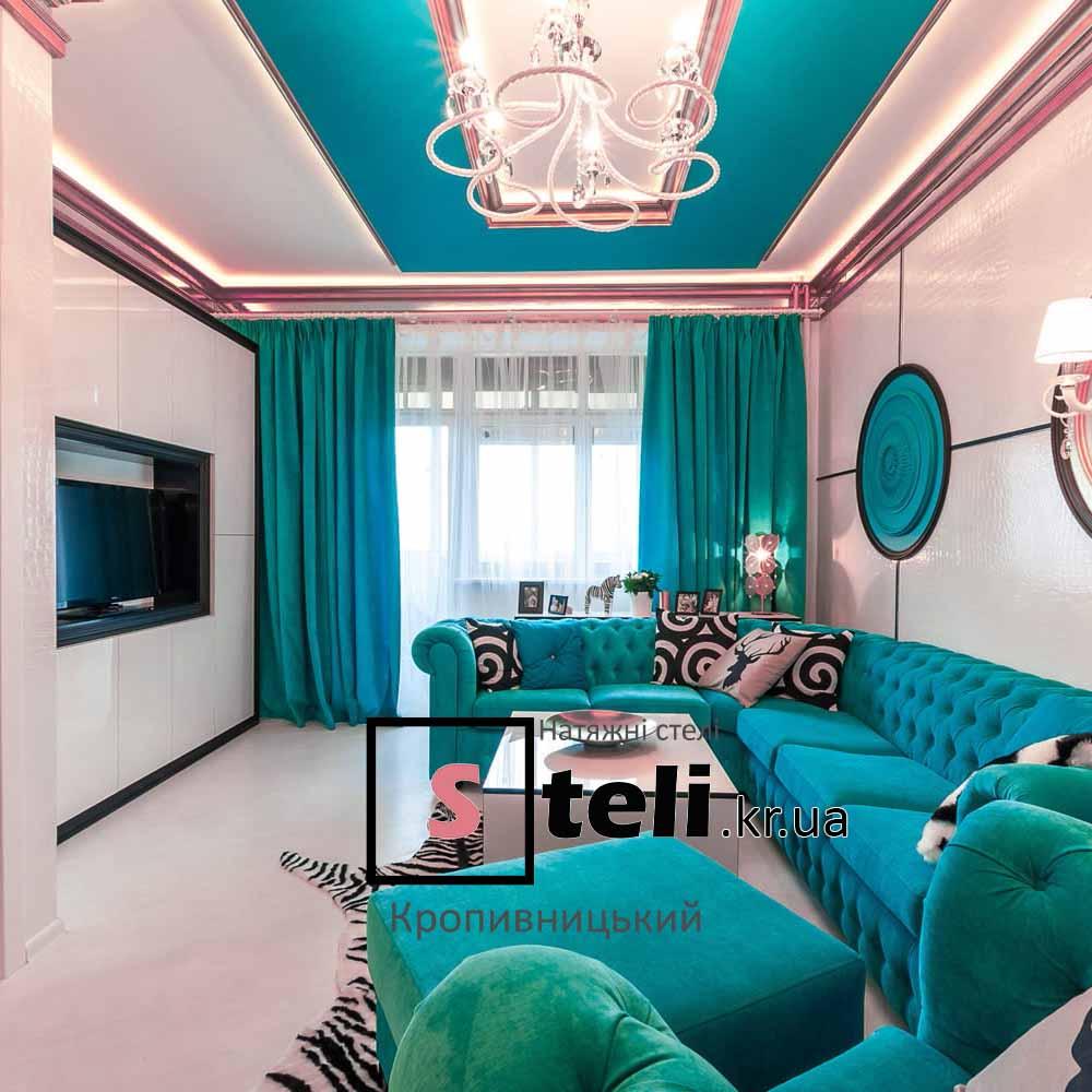 Натяжные потолки фото галерея кропивницкий кировоград мятный цвет